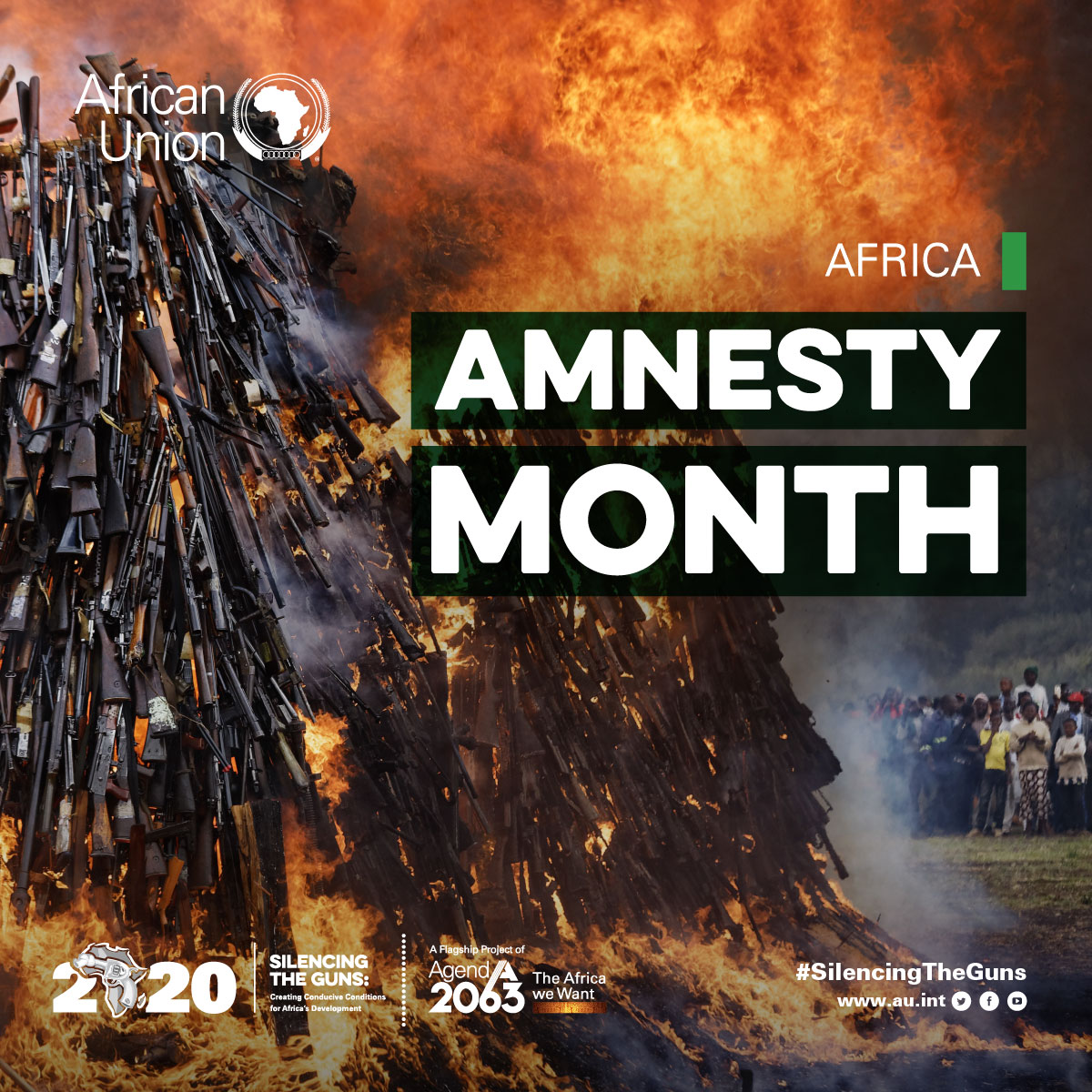 "Statement by Ambassador Smaïl Chergui Commissioner for Peace and Security on Africa Amnesty month: implementation of the AU theme of the year 2020 ""Silencing the Guns: creating conducive conditions for Africa's development"""